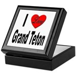 I Love Grand Teton Keepsake Box
