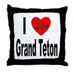I Love Grand Teton Throw Pillow