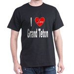 I Love Grand Teton (Front) Black T-Shirt