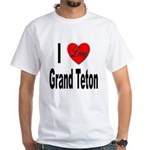 I Love Grand Teton White T-Shirt