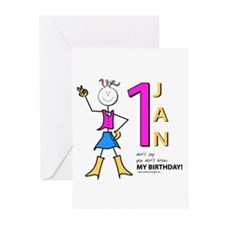 1st Jan Greeting Cards (Pk of 10)