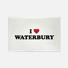 I Love Waterbury Connecticut Rectangle Magnet