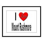 I Love Mount Rushmore Large Framed Print