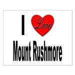 I Love Mount Rushmore Small Poster