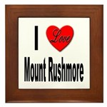 I Love Mount Rushmore Framed Tile
