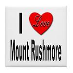 I Love Mount Rushmore Tile Coaster