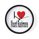 I Love Mount Rushmore Wall Clock