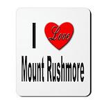 I Love Mount Rushmore Mousepad