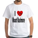 I Love Mount Rushmore (Front) White T-Shirt