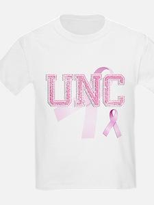 UNC initials, Pink Ribbon, T-Shirt
