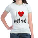 I Love Mount Hood (Front) Jr. Ringer T-Shirt