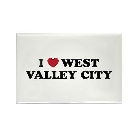 I Love West Valley City Utah Rectangle Magnet