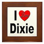 I Love Dixie Framed Tile