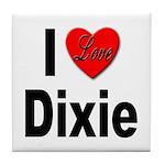 I Love Dixie Tile Coaster