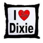 I Love Dixie Throw Pillow