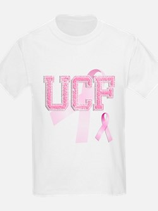 UCF initials, Pink Ribbon, T-Shirt
