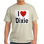 I Love Dixie Ash Grey T-Shirt