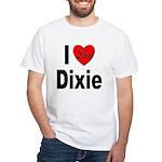 I Love Dixie White T-Shirt