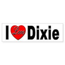 I Love Dixie Bumper Bumper Sticker
