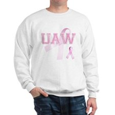UAW initials, Pink Ribbon, Sweatshirt