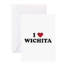 I Love Wichita Kansas Greeting Cards (Pk of 20)