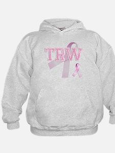 TRW initials, Pink Ribbon, Hoodie