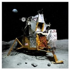Moon landing, 21 July 1969 Canvas Art