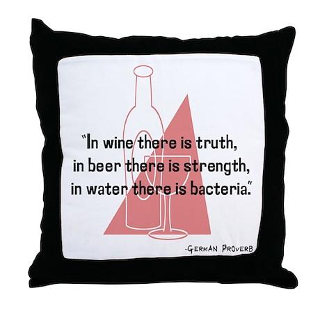 German Proverb Throw Pillow