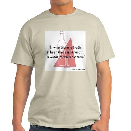 German Proverb Ash Grey T-Shirt