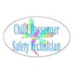 CPST dragonfly Oval Sticker