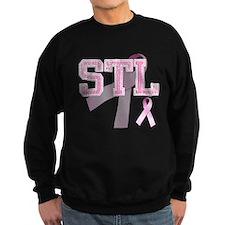 STL initials, Pink Ribbon, Jumper Sweater