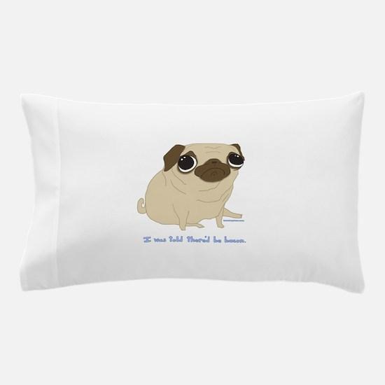 Bacon Pug Pillow Case