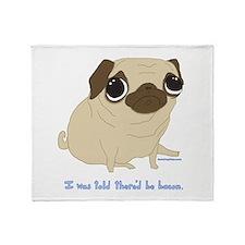 Bacon Pug Throw Blanket