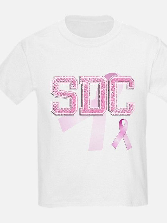 SDC initials, Pink Ribbon, T-Shirt