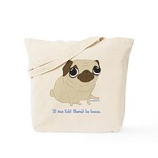 Bacon Pug Tote Bag