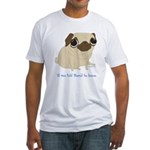 Bacon Pug Fitted T-Shirt