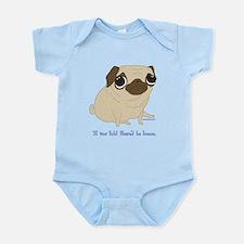 Bacon Pug Infant Bodysuit