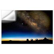 Milky way and observatories, Hawaii Wall Decal
