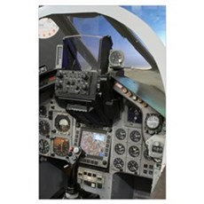 Military aircraft cockpit Poster