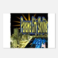 panama city skyline dynamic art Postcards (Package