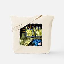 panama city skyline dynamic art Tote Bag