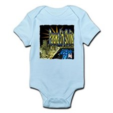 panama city skyline dynamic art Infant Bodysuit