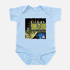 panama city skyline dynamic art Infant Bodysuit