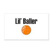 Lil' Baller Rectangle Car Magnet