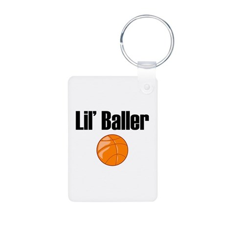 Lil' Baller Aluminum Photo Keychain