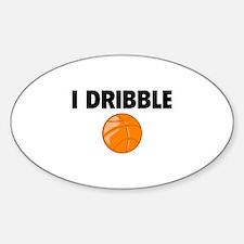 I Dribble Sticker (Oval)