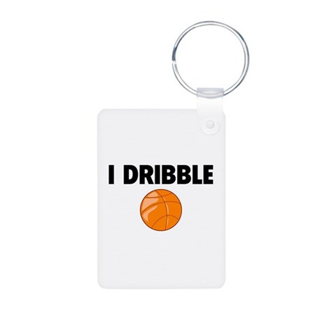 I Dribble Aluminum Photo Keychain