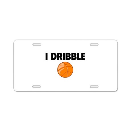 I Dribble Aluminum License Plate