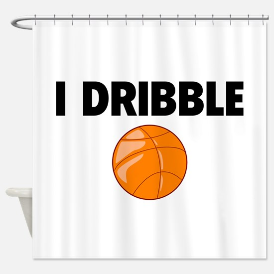 I Dribble Shower Curtain