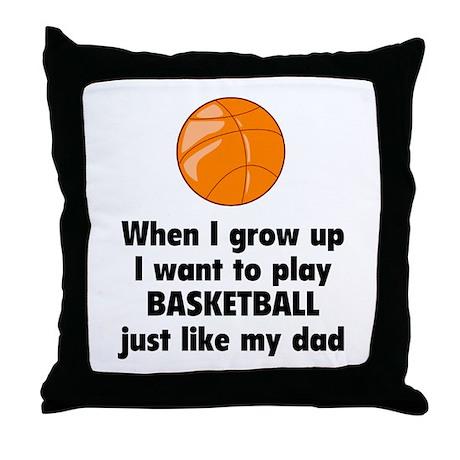 Play Basketball Throw Pillow